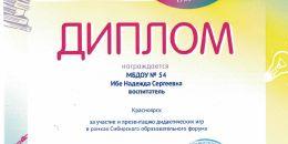 Диплом Сибирский образовательный форум 2019_0005